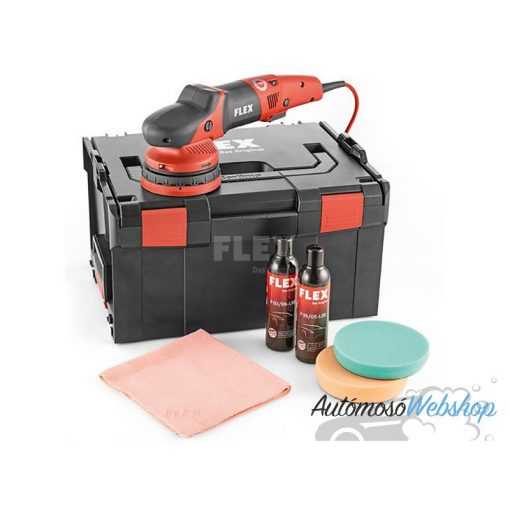 FLEX XCE 10-8 125 P-Set 230/CEE excenter polírozó - szett (kényszerített forgással)