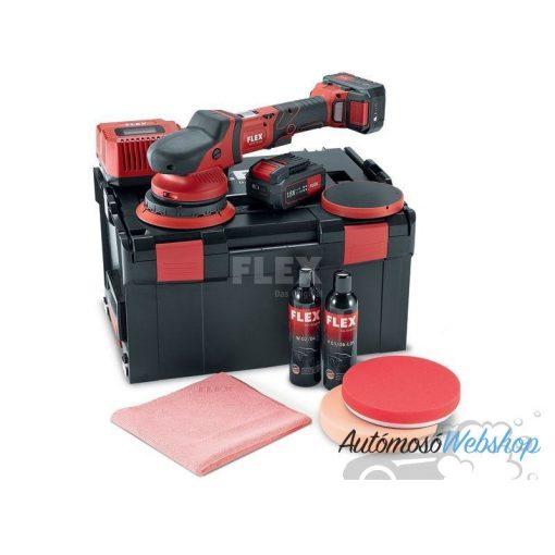 FLEX XFE 15 150 18.0-EC/5.0 P-Set akkus excenter polírozó szett