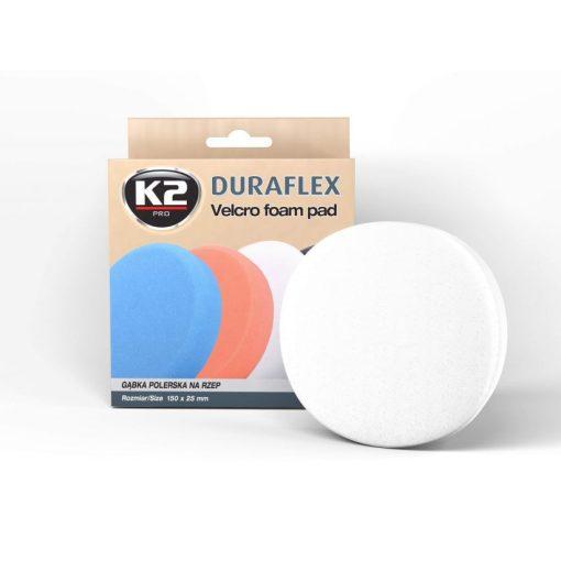 K2PRO DURAFLEX tépőzáras polírkorong - fehér